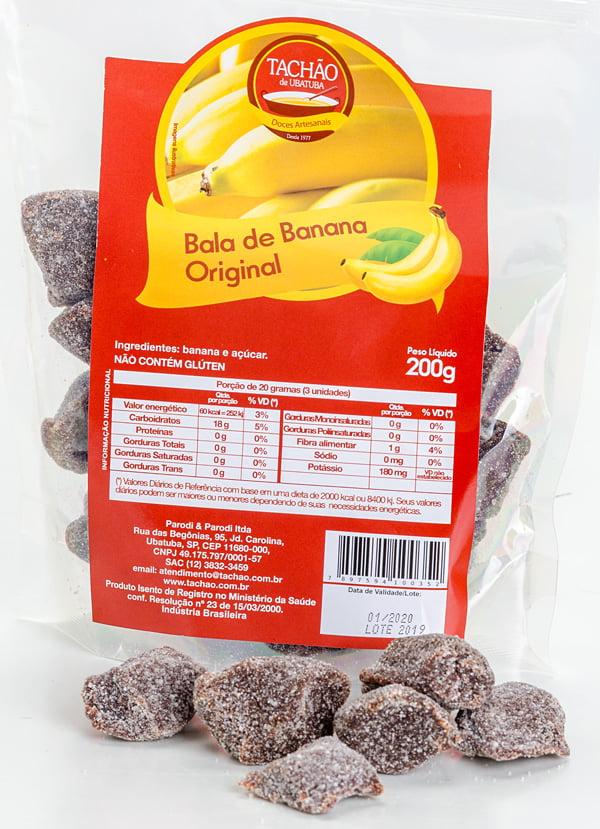 Bala de Banana Original para 25 Pacotes