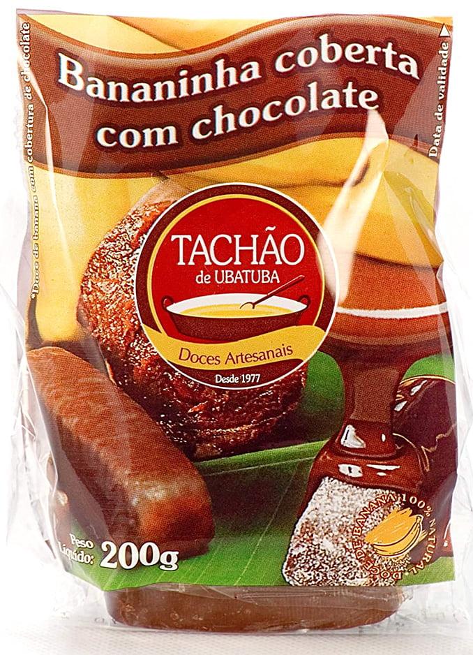 Bananinha Coberta com Chocolate Pacotes em Atacado