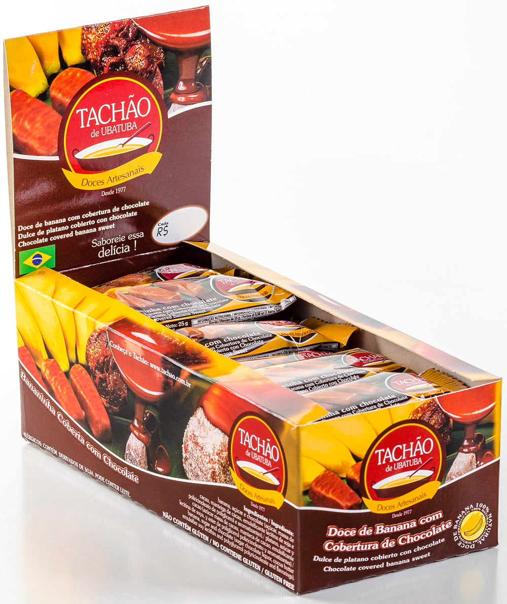Bananinha Coberta com Chocolate Display 24X25g para 12 Displays
