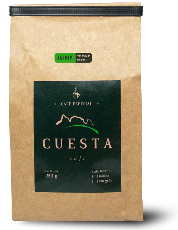 Café Cuesta Jasmin Torrado em Grãos 250g
