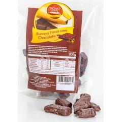 Banana Passa com Cobertura de Chocolate Pacote 200g